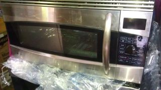 GE Profile OTR microwave/ convection oven Black Stainless steel