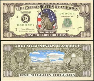 Lot of 100 Stars Stripes Liberty Millon Dollar Bills
