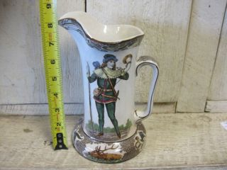 RARE Buffalo Art Pottery Robin Hood Tankard Pitcher