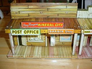 Marx Roy Rogers Mineral City for rebuild or parts plus stagecoach and