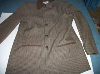 Alfred Dunner Size 8 Womens Blazer Brown