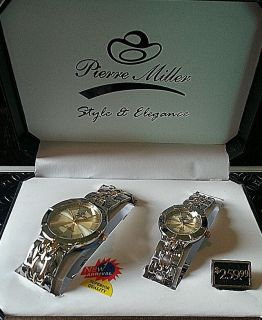 Pierre Miller Style Elegance Silver and Gold Wrist Watches Great Price