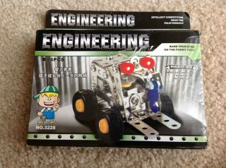 Mini Forklift Building Set by Engineering Tractor Mighty Machines