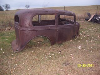 35 Chevrolet Standard Tudor Sedan Body Hot Rat Rod Project Chevy Hiboy