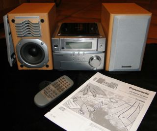 Panasonic SC PM03 Mini CD Hi Fi Bookshelf Stereo System