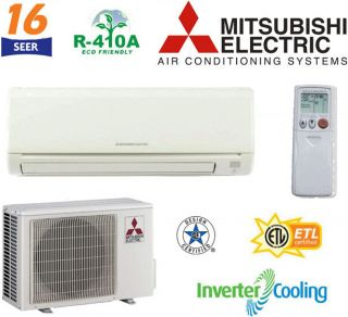 Mitsubishi Mr Slim Ductless Mini Split Air Conditioner 2 5 Ton