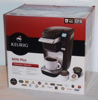 Keurig Mini Plus Black Personal Brewer Coffee Maker New