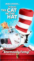 Dr. Seuss The Cat in the Hat VHS, 2004, Paper Case Packaging Edition