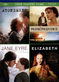 Pride and Prejudice Jane Eyre Elizabeth DVD, 2012, 4 Disc Set