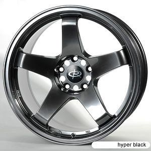 17 ROTA P45 HYPER BLACK RIMS WHEELS 17x9 17x9.5 +12 4x114.3 240SX S13