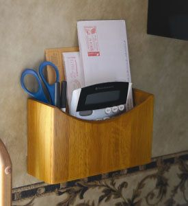 Wall Mounted Wood Mail Organizer