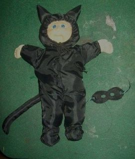 1980s CPK Cabbage Patch Kids BLACK CAT HALLOWEEN COSTUME SUIT W/ HOOD