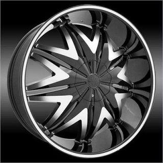 WHEEL 24 inch Krystal Black Wheels Rims 5x115 +15 and a 275.25.24 tire