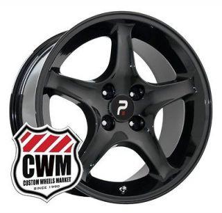 Black Chrome Mustang Cobra R Wheels 17x9 Inch 4 lug Rims Tires 87 93