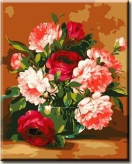 Acrylic Paint by Number kit 50x40cm (20x16) Flowers DIY Painting PBN