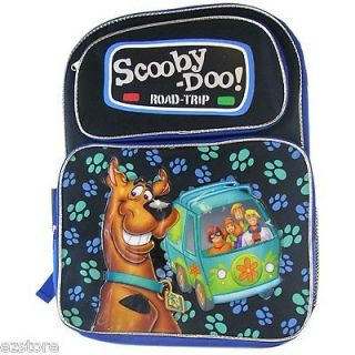 Scooby Doo Shaggy Mystery Van LARGE Backpack Bag Tote Black 16 NEW