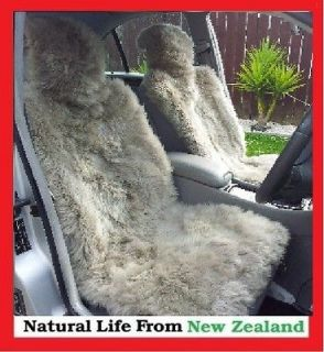 Premium Quality NZ long wool Sheepskin car seat cover