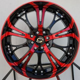 17X7 G LINE G667 WHEEL 5X100/114.3 +40 RED BLACK RIM FITS CELICA CIVIC