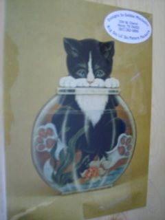 Wishful Thinkin Cat & Fishbowl Painting Pack By Debbie Mitchell, 1987