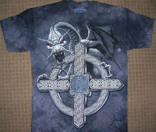 Celtic Cross Dragon T shirt by The Mountain