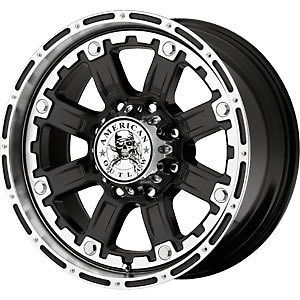 New 18X8.5 8x165.1 American Outlaw Black Wheels/Rims