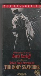 THE BODY SNATCHER VHS BORIS KARLOFF BELA LUGOSI