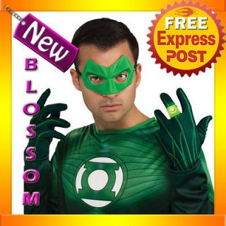 Mens Green Lantern Movie Light Up Ring Halloween Costume Accessory