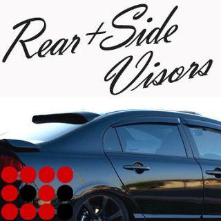 03 07 Sedan/4D Side Window Sun Shade + Rear Windshield Visors Guard