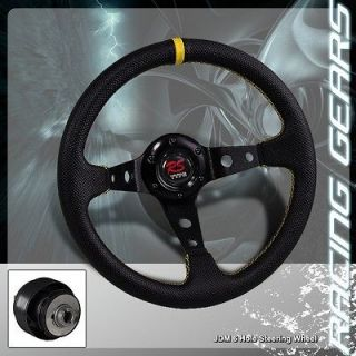 Honda Civic Acura Integra JDM 6 Hole PVC Deep Dish Steering Wheel