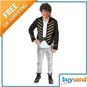 Adam Ant Pop Star Prince Charming Fancy Dress Costume Standard M/L