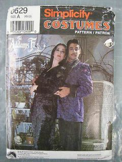 Newly listed ADULT ADDAMS FAMILY MORTICIA GOMEZ COSTUME SEWING PATTERN
