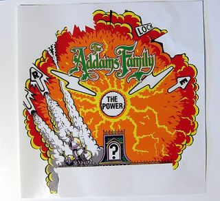 Addams Family Pinball Machine Center Magnet Playfield Burn Overlay