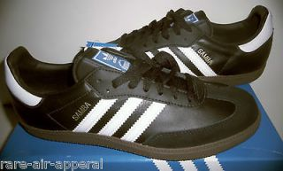 ADIDAS ORIGINALS CLASSIC SAMBA BLACK/WHITE GUM SOCCER SNEAKER/SHOES