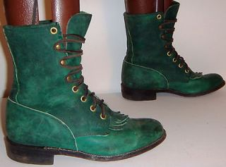JUSTIN WOMENS WESTERN COWBOY LACER PACKER BOOTS SIZE 5.5 B