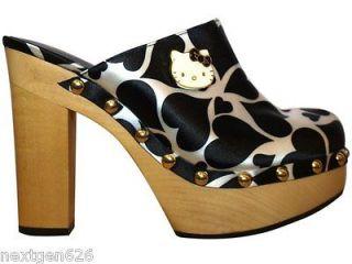 Sanrio Licensed Hello Kitty Adelina Heart Print Clog Womens Shoe Size