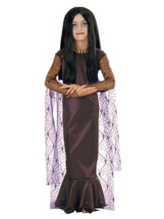 Morticia Addams Family Gothic Vampire Witch Dress Up Halloween Child