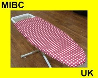GINGHAM JUMBO EXTRA LARGE IRONING BOARD COVER RED FAWN PURPLE