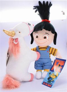 DESPICABLE ME Cute Agnes and Fluffy Unicorn Plush toys