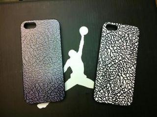 Nike Air Jordan White Black Cement Elephant Print Case iPhone 4 4S 5