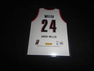 ANDRE MILLER 2010 11 PANINI THREADS DIE CUT HOME JERSEY #42 PORTLAND