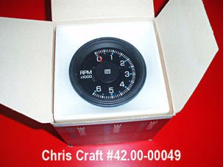 STEWART WARNER (NOS) 6K Electric Tachometer Kit Chris Craft Classic