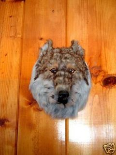 WOLF HEAD MOUNT REALISTIC fur FURRY ANIMAL REPLICA w2462 FREE SHIPPING