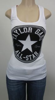 TAYLOR GANG All Star Tank Top Wiz Khalifa TGOD Womens White Juniors Jr