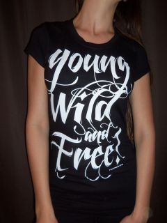 YOUNG WILD AND FREE   WIZ KHALIFA & SNOOP DOGG WOMAN BABY DOLL TOP