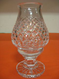 Crystal 2 pc. Hurricane Lamp w/Alana Pattern (Etched Waterford Logo