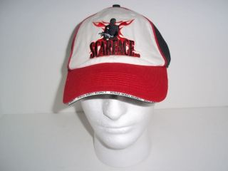 SCARFACE RED WHITE BLACK CAP HAT POWER BIKER BOAT HUNT