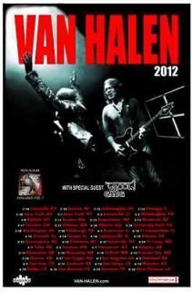 Van Halen 2012 box office concert tour POSTER kool & The Gang USA