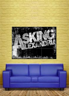 ASKING ALEXANDRIA MUSIC CUSTOM ART WORK GIANT POSTER PRINT 89 x 125