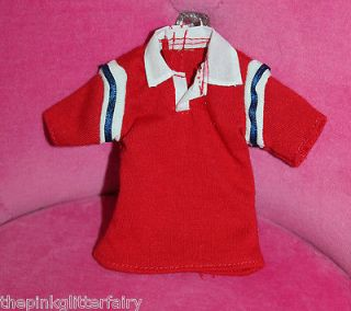 Family midge pregnant DOLL husband ALAN red white blue polo shirt