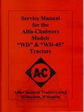 ALLIS CHALMERS WD & WD45 WD 45 Service Repair Manual